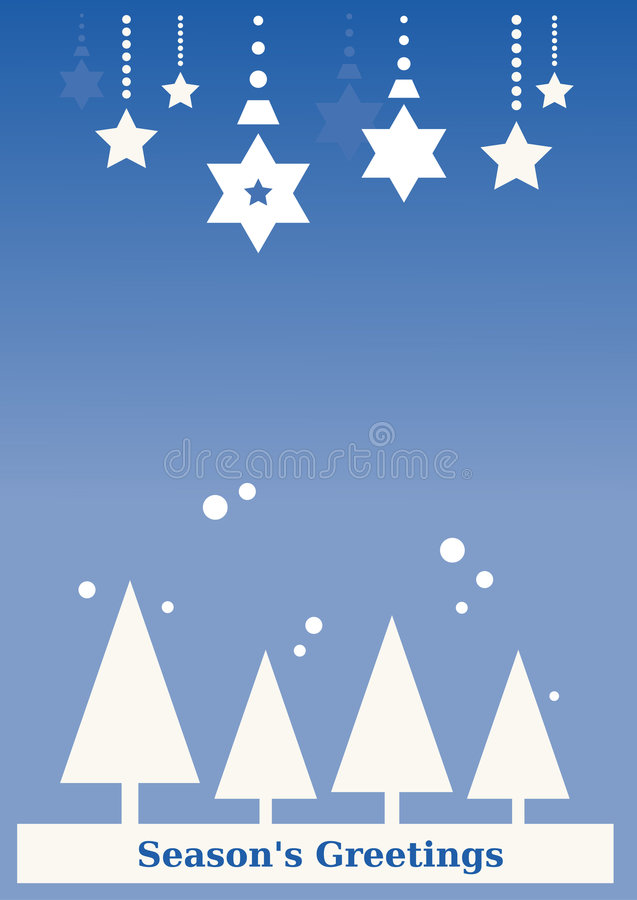 Seasons s Greeting Background (blue)
