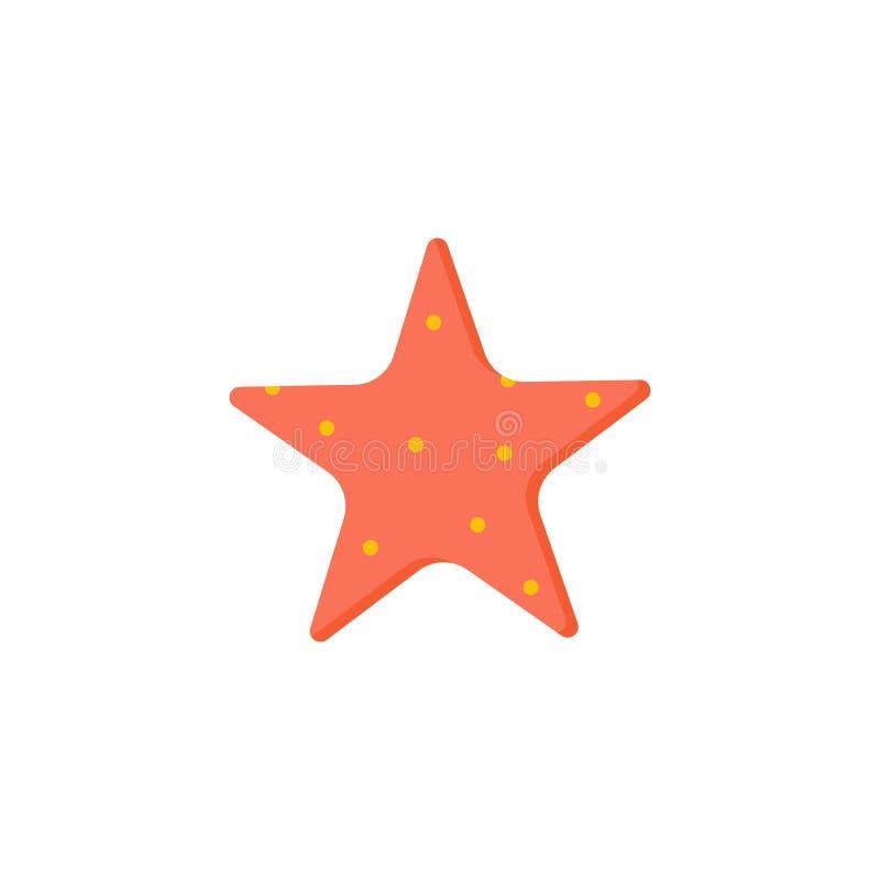 Seastar coloré avec les points rouges illustration libre de droits