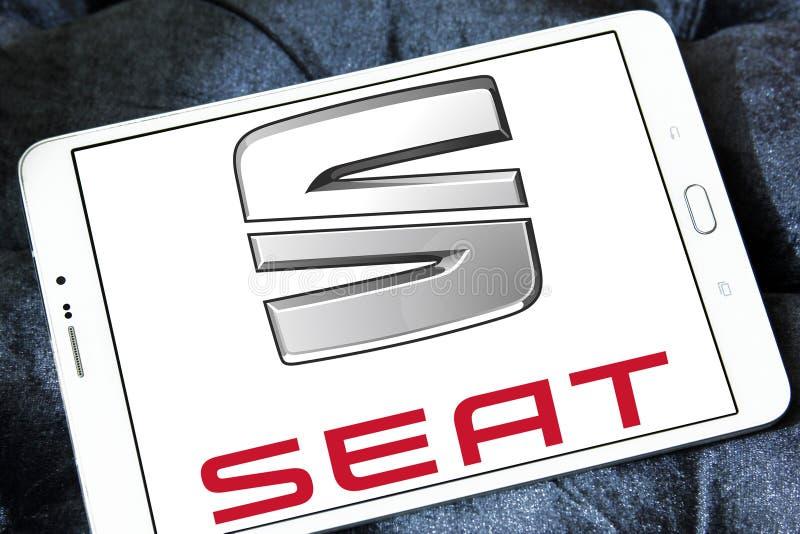 Seat-autoembleem royalty-vrije stock afbeeldingen