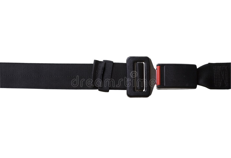 Seat Belt With Clipping Path Stock Photo