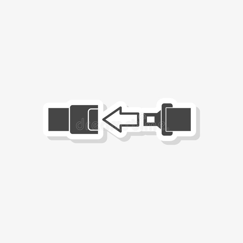 Free Seat Belt Or Safety Belt Sticker, Simple Vector Icon Royalty Free Stock Photo - 114618075