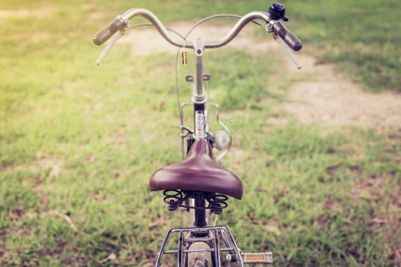 Seat bicyklu rocznik obrazy royalty free