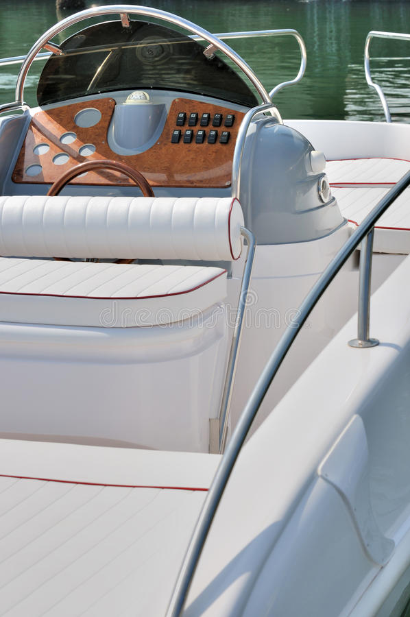 Download Seat And Control Panel Of A Boat Stock Photo - Image: 22281366