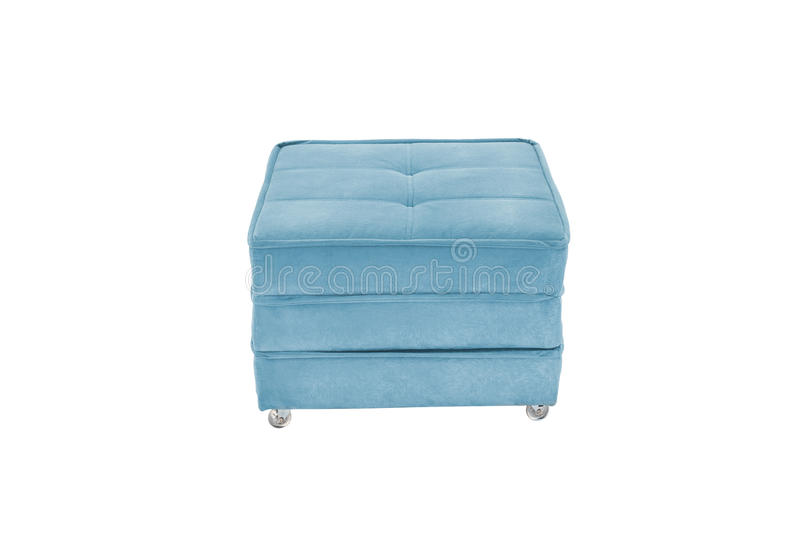 seat cozy blue bed sofa pouf bed royalty free stock images