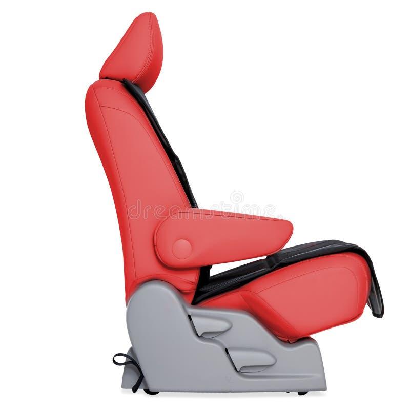 Seat de couro vermelho do carro fotos de stock royalty free