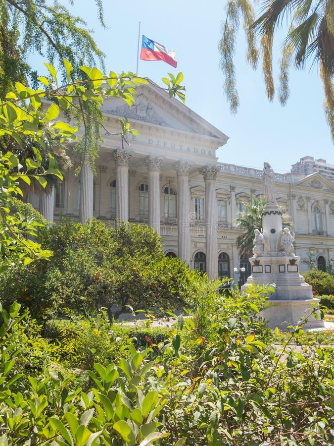 Seat do Santiago do congresso nacional do Chile, no cente foto de stock