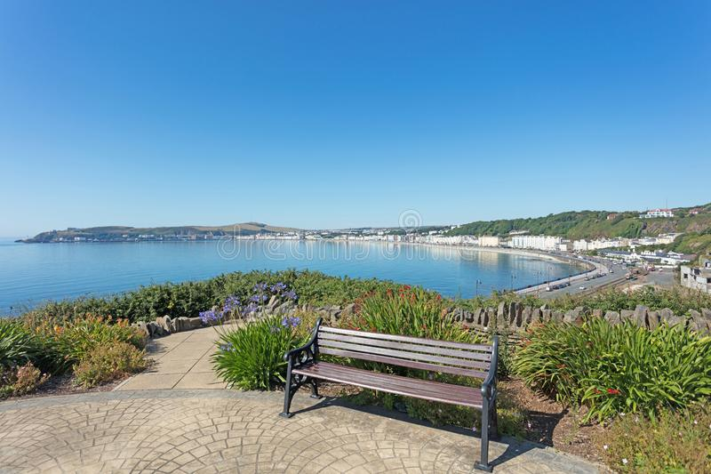 Seat donnant sur Douglas Bay Isle de l'homme photos libres de droits