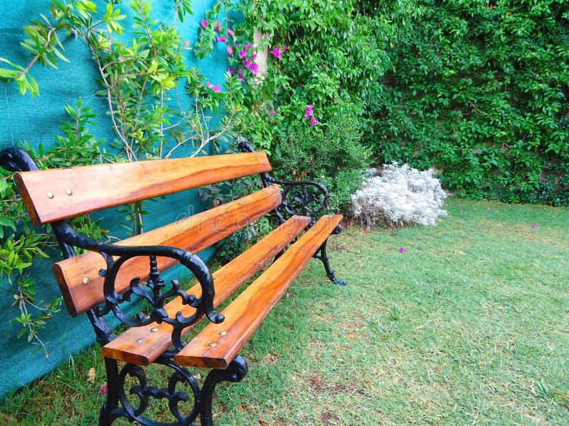 Seat en bois photo stock