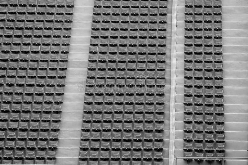 Seat en el estadio para el fondo y la textura fotos de archivo