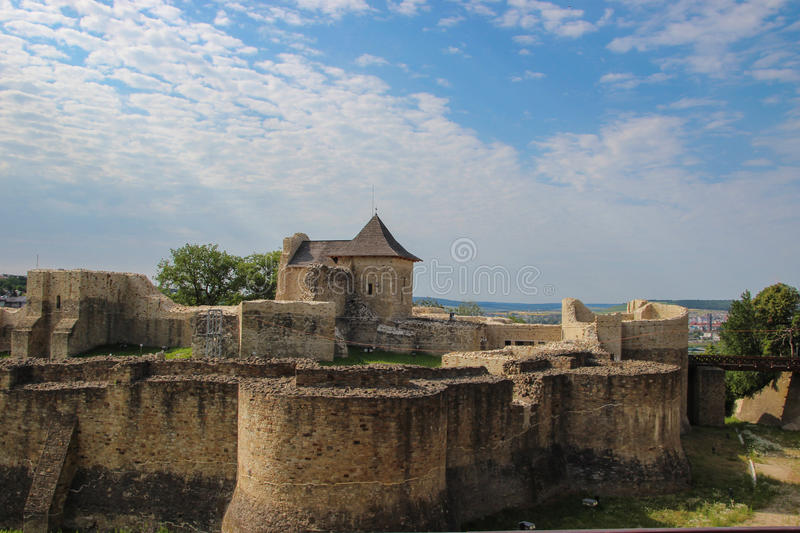 The Seat Fortress of Suceava. (Cetatea de Scaun a Sucevei) or Suceava Citadel, a medieval castle situated on the eastern edge of the contemporary city. The royalty free stock photos