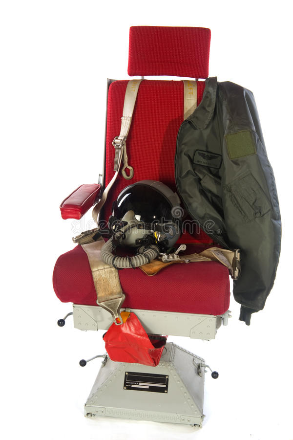Seat From Military Airplane Stock Photography