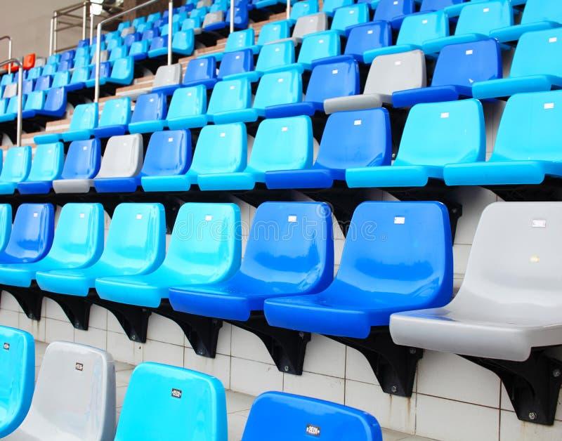 Seat no estádio fotos de stock