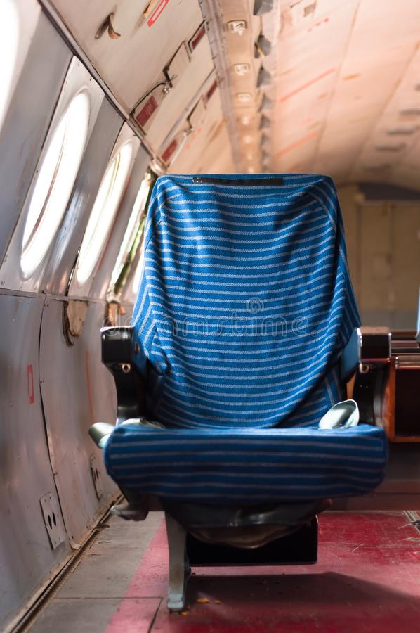 Download Seat of an old airplane stock image. Image of orange - 18788331