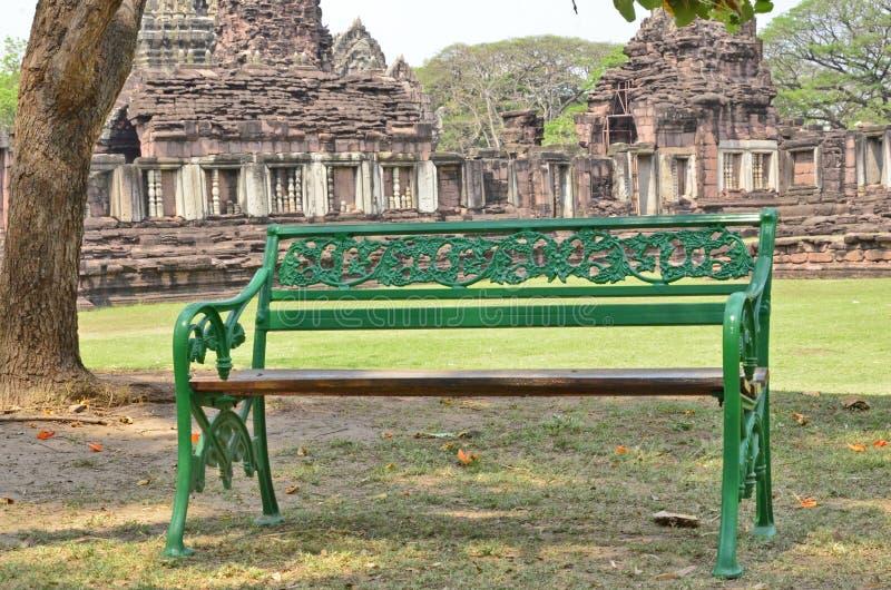 Seat in parco storico fotografia stock libera da diritti