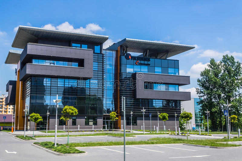 Seat of Polski Koks. Modern office building, seat of Polski Koks – one of the leading coke exporters in the world, part of JSW Group, on June 07, 2014 royalty free stock photo
