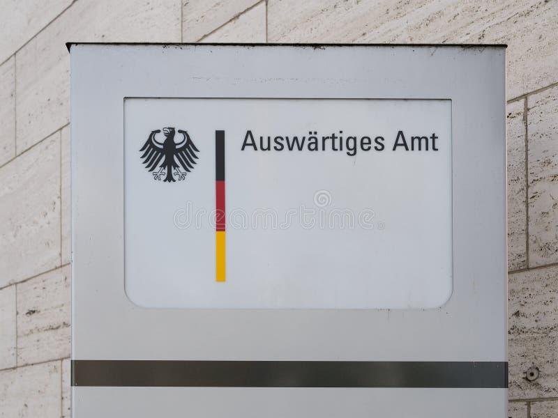 Seat primario di Foreign Office federale tedesco a Berlino, Germania immagine stock libera da diritti
