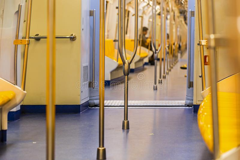 Rail in the sky train. Seat and rail in the sky train royalty free stock photo