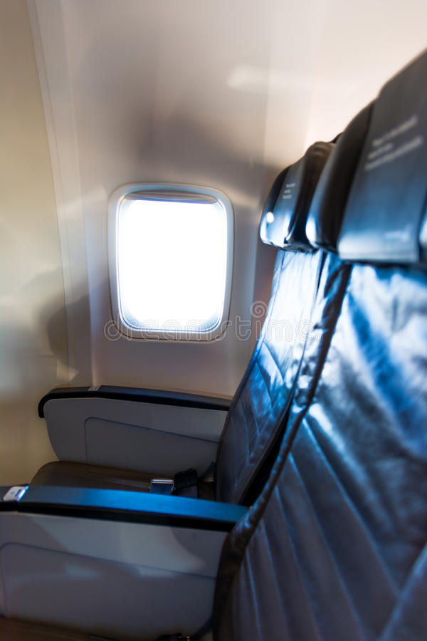 Seat Row Airplane Stock Photo