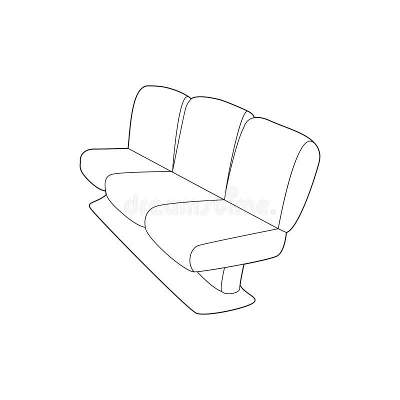 Seat sur l'icône plate, style d'ensemble illustration de vecteur