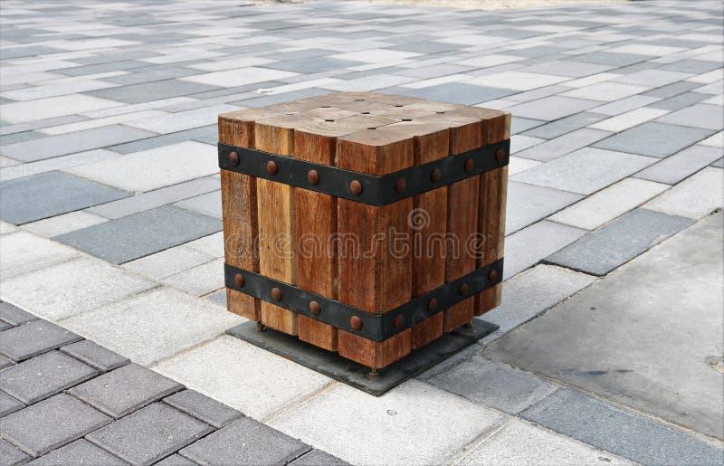 Seat van houten blokken wordt gemaakt dat royalty-vrije stock afbeelding