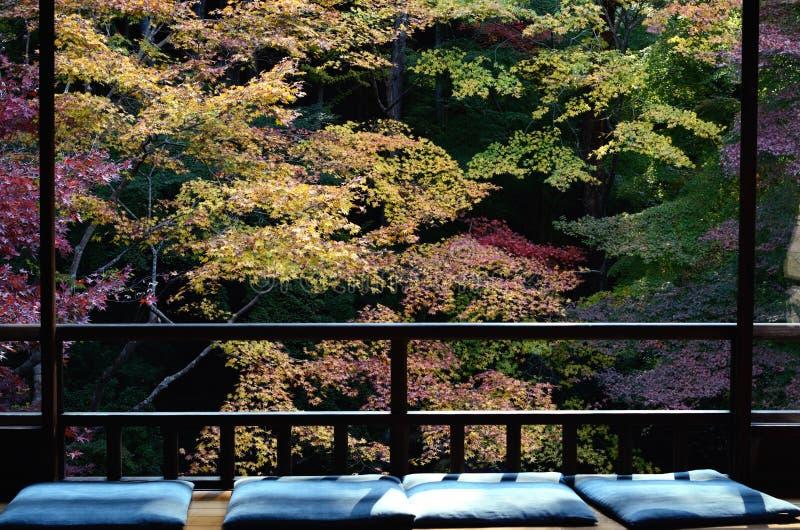 Download Seat Of The Windowsill In Japanese Zen Garden Stock Photo   Image  Of Garden,