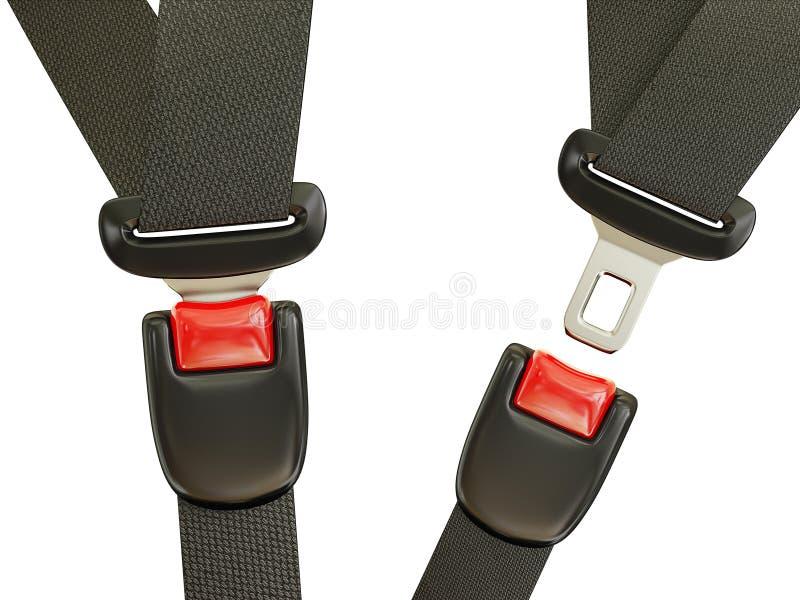 Seatbelt. Auto seatbelt isolated on a white background royalty free illustration
