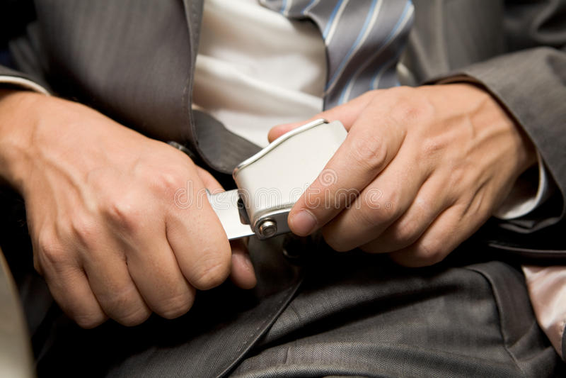 Seatbelt da asseguração foto de stock royalty free
