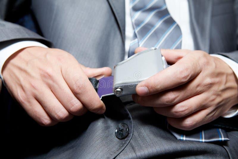 Seatbelt da asseguração imagem de stock