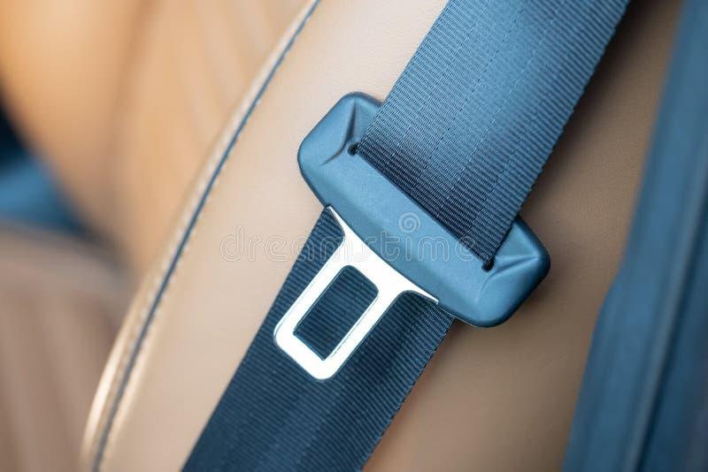 Seatbelt da segurança em um carro foto de stock royalty free