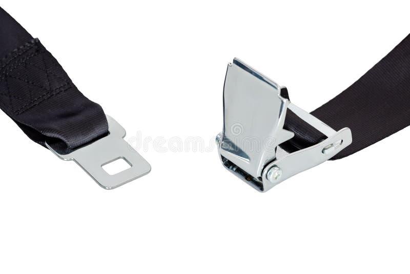 Seatbelt desatado da segurança do avião fotos de stock royalty free
