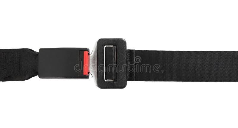 Seatbelt prendido fotografia de stock