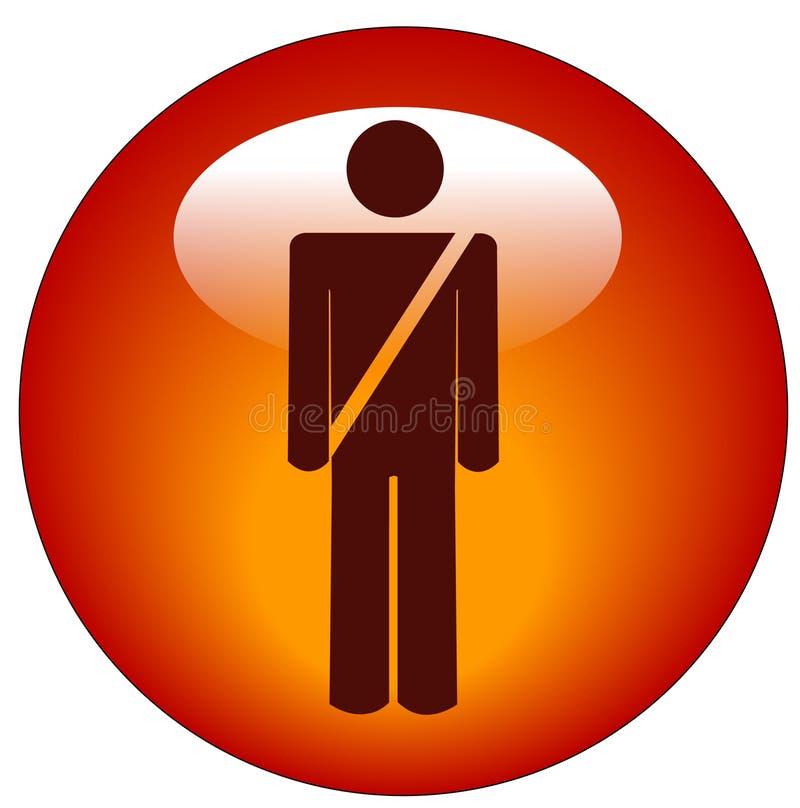 Seatbelt web button vector illustration