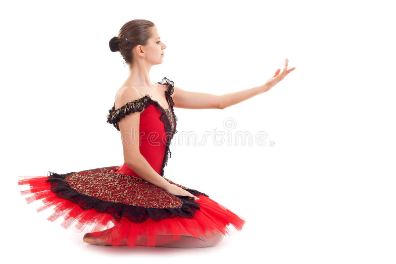 Download Seated ballerina stock image. Image of cute, posed, inviting - 16604735