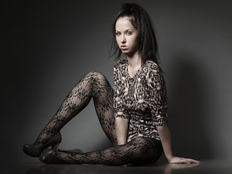 Seated girl stock image