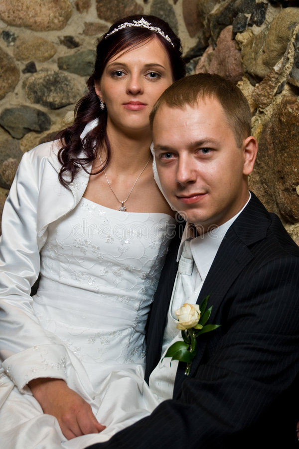 Seated married couple royalty free stock image
