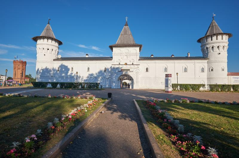 The Seating courtyard in the Tobolsk Kremlin. Tobolsk. Tyumen Oblast. Russia royalty free stock photos