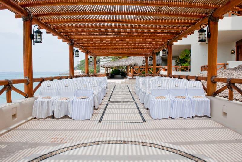 Seating At Resort Wedding Stock Photography