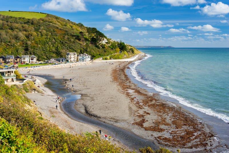 Seaton Beach Cornwall England fotografia de stock