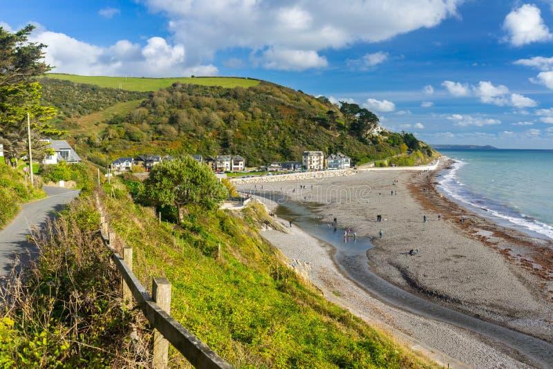 Seaton Beach Cornwall England royaltyfria foton