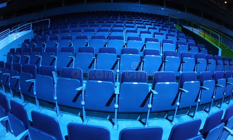 Download Seats stock image. Image of blue, emptiness, detail, auditorium - 23121459