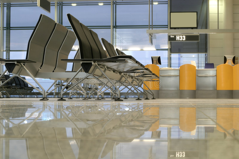 Seats in the airport royalty free stock photo