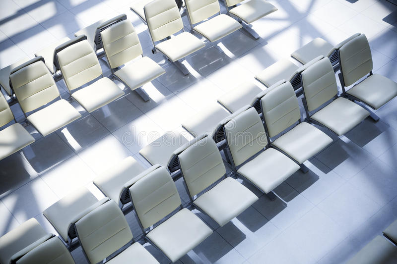 Seats at the airport. Empty seats at the airport royalty free stock image