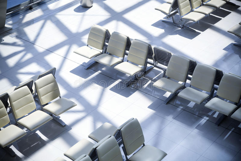 Seats at the airport. Empty seats at the airport royalty free stock photography