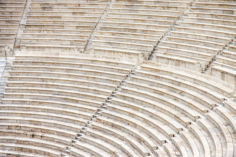 Seats Of Ancient Odeon Of Herodes Atticus Athens Stock Photo Image Of Atticus Athens 58897744