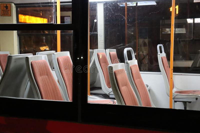 Seats in the bus royalty free stock images
