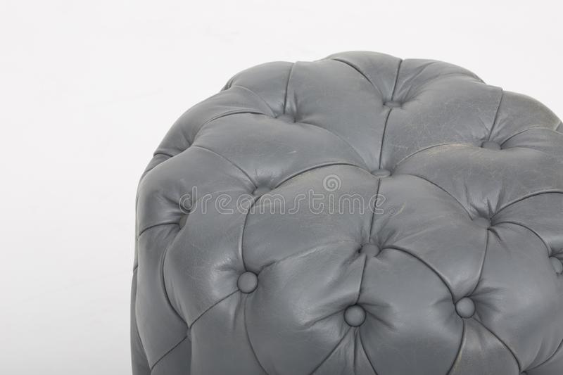 Seats cozy leather sofa, 2 seater modern sofa in light grey fabric, 2-Seat Sofa, Feather Cushion Sofa, - Image.  stock photography