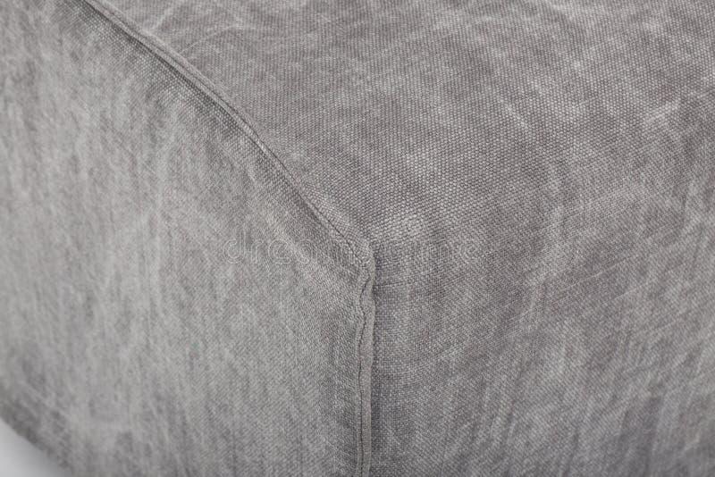 Seats cozy leather sofa, 2 seater modern sofa in light grey fabric, 2-Seat Sofa, Feather Cushion Sofa, - Image.  royalty free stock image