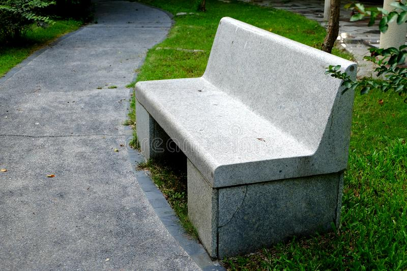 Park seats. Seats in the public environment are places where designers can use their brains. Park seats are always functional and ornamental, and all sorts of royalty free stock photo