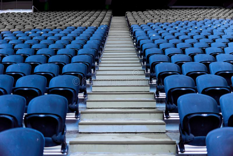 Seats in the stadium. Are arranged in rows royalty free stock images
