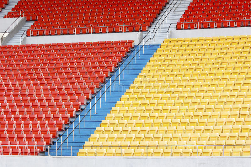 Seats at stadium stock image